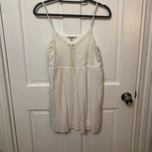 Tank top White Embroidered Dress. Size M.